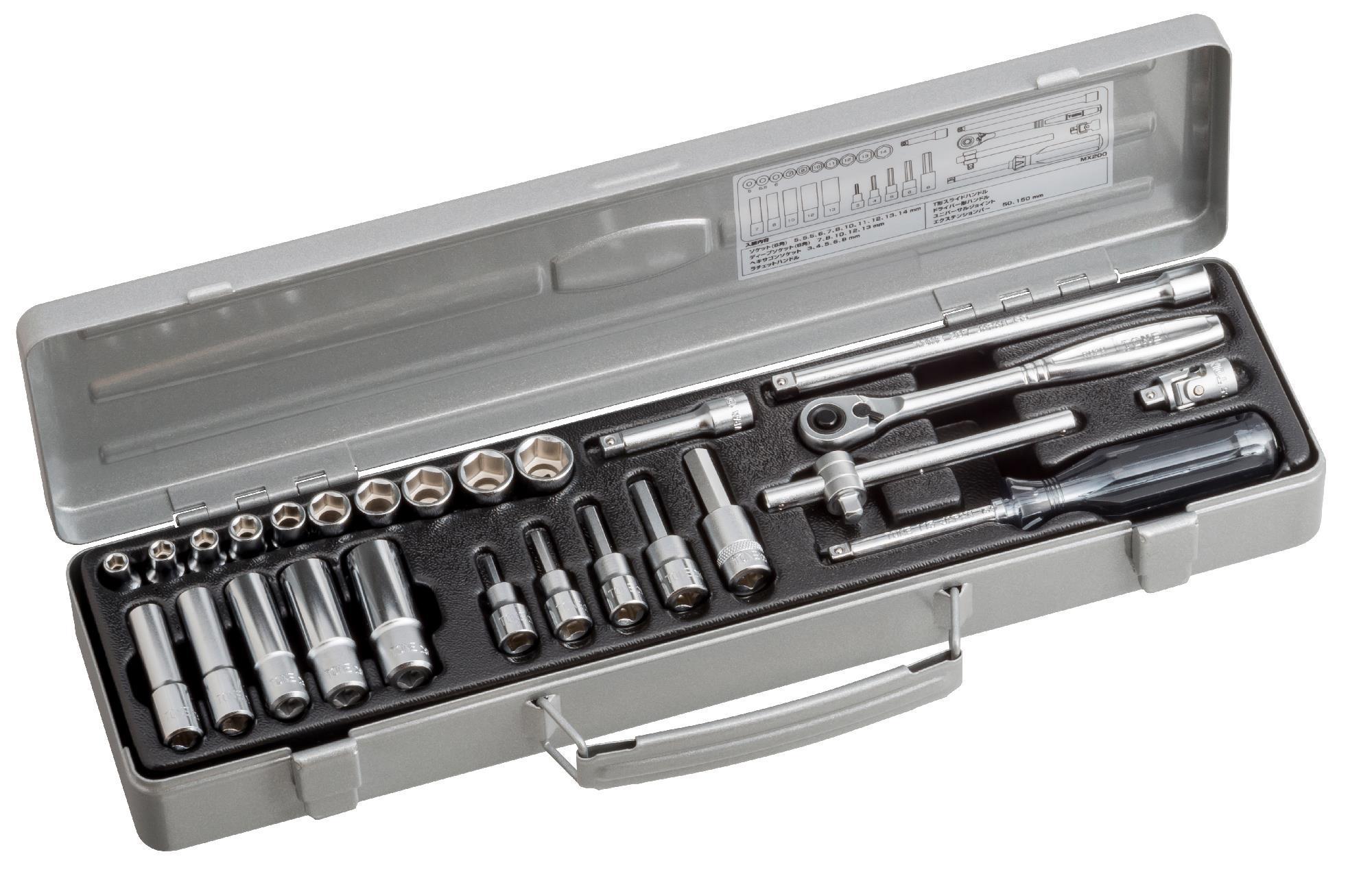 Hộp đầu khẩu và cần vặn TONE 1/4inch MX200