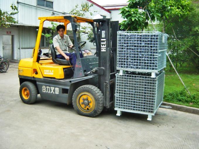 Xe lồng thép lắp bánh xe cao su D100 Nansin 800x600x640 (50x100) CNCXL-00011