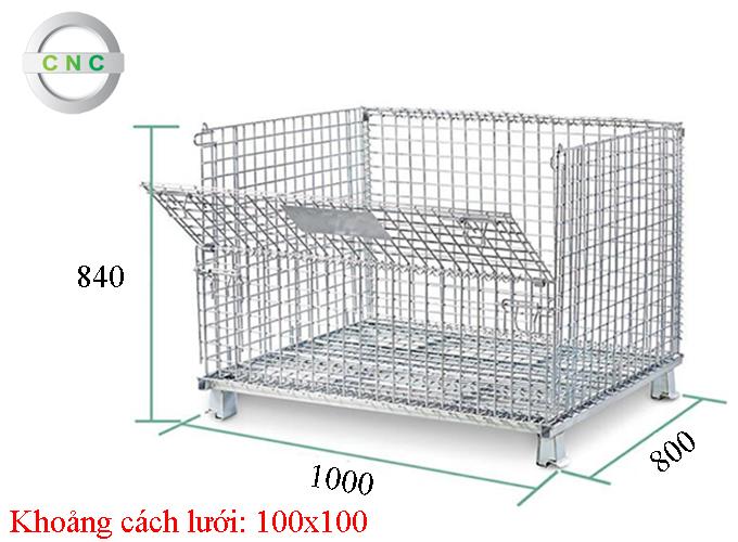 Lồng thép 1000x800x840 (100x100) CNCXL-00005
