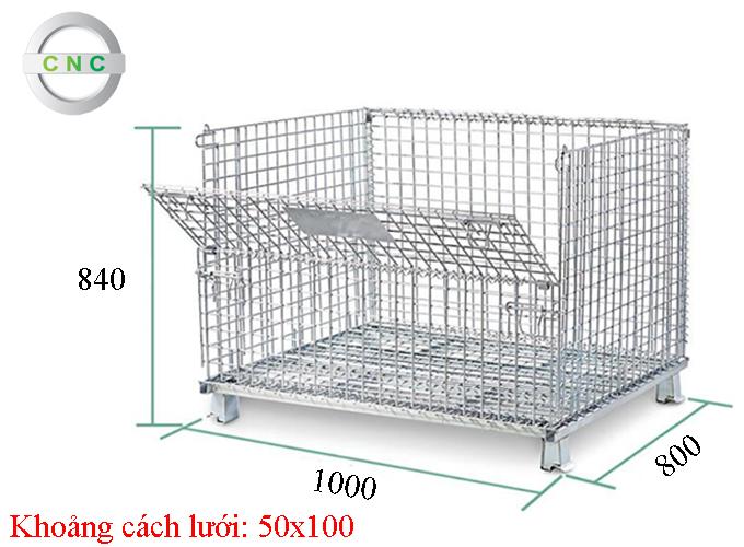 Lồng thép 1000x800x840 (50x100) CNCXL-00004