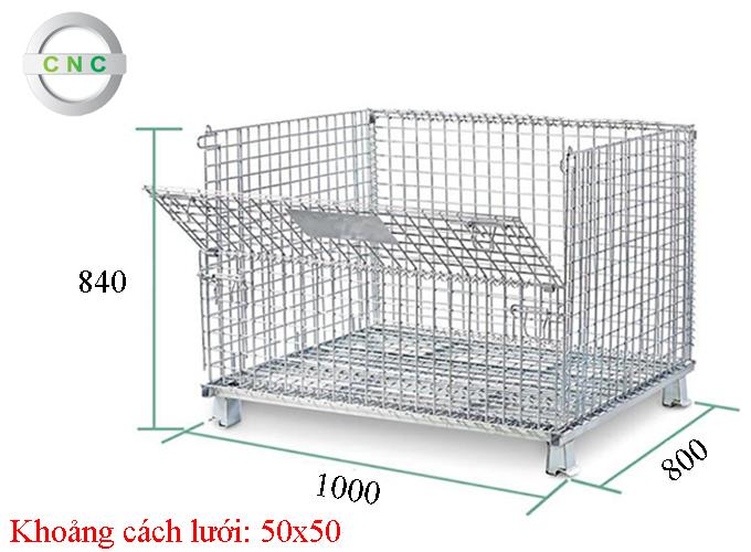 Lồng thép 1000x800x840 (50x50) CNCXL-00003