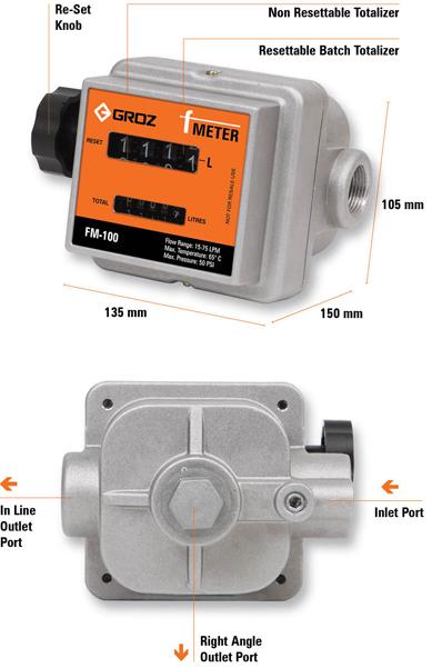 Đồng hồ đo nhiên liệu FM-100